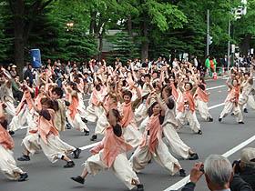北海道グルメ彩都 スタッフ日誌 YOSAKOIソーラン祭り 大通公園