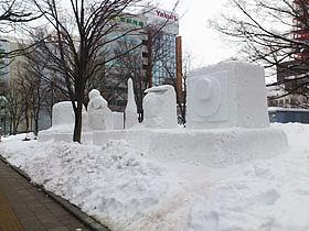 北海道グルメ彩都 スタッフ日誌 さっぽろ雪まつりの準備が始まりました!