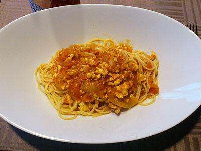 北海道グルメ彩都 スタッフ日誌 北海道 真狩 トマト 桃太郎 美味しい 完熟トマトでパスタを作りました