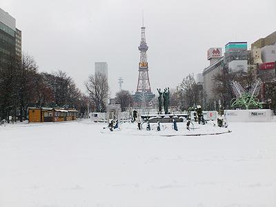 北海道グルメ彩都 スタッフ日誌 雪の大通公園